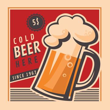 Beer Offer in vintage style