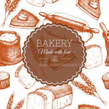 Bakery Ad Fresh Bread Loaves