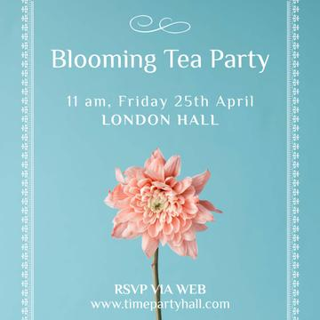 Blooming Tea Party with Tender Flower