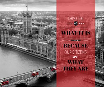 City quote with London view
