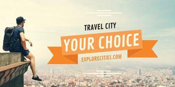 Travel city advertisement
