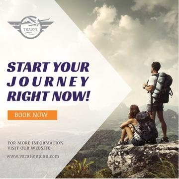 Hiking Tour Sale Backpackers in Mountains