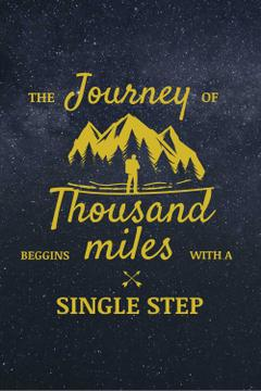 Journey Inspiration with Traveler in Mountains Icon