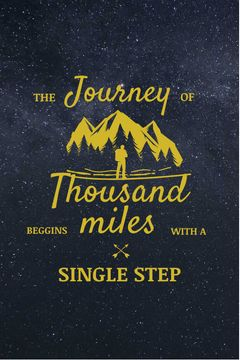 Journey Offer Traveler in Mountains Icon