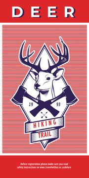 Hiking trail advertisement with deer