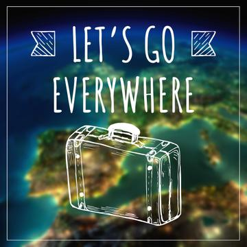Travel inspiration with Suitcase on Earth image