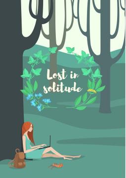 Lost in solitude illustration