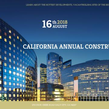 Annual construction conference with City Skyscrapers