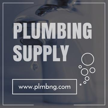 Plumbing Services Ad with Leaking Tap