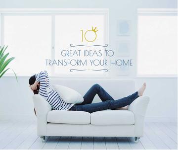 Home Decor ideas Woman Resting on Sofa