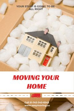 Home Moving Service Ad House Model in Box