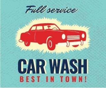 Car wash advertisement