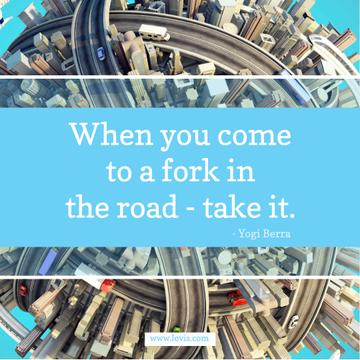Inspiration quote on City Roads