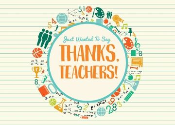 Thanks Teachers with School's Attributes
