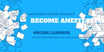 Online learning event announcement