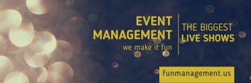 Event management live shows advertisement
