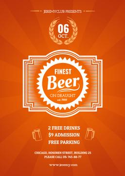 Finest beer pub ad in orange