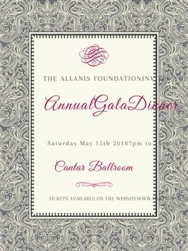 Annual Gala Dinner Announcement in Vintage Pattern