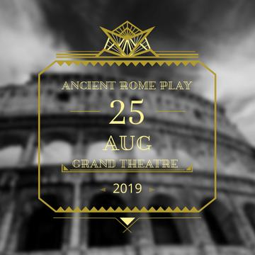 Theater invitation with ancient Coliseum