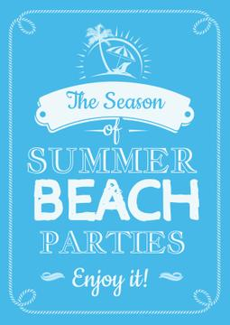 Summer beach parties Annoucement