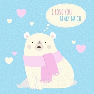 Cute Bear with Hearts