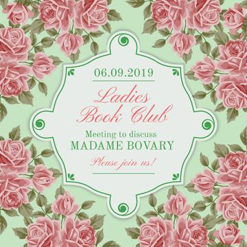 Ladies Book Club Invitation