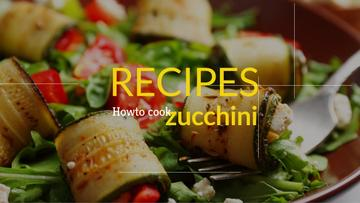 Recipe book for preparing zucchini