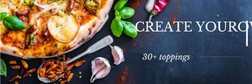 Create your own pizza poster