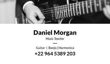 Music teacher business card