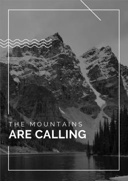 Travel Inspiration Quote with Scenic Mountains Lake