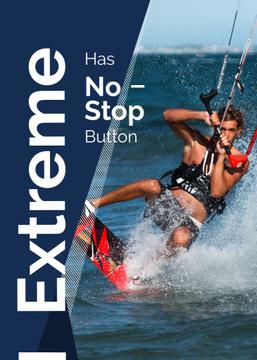 Extreme Inspiration Man Riding Kite Board