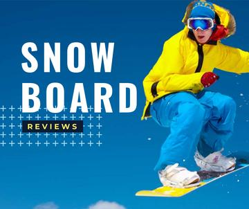 Man Riding Snowboard in Snowy Mountains