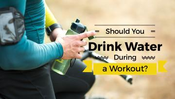 Drink water during workout with man holding bottle