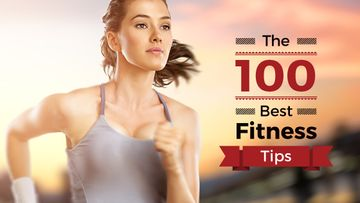 Fitness Tips with Girl running on road