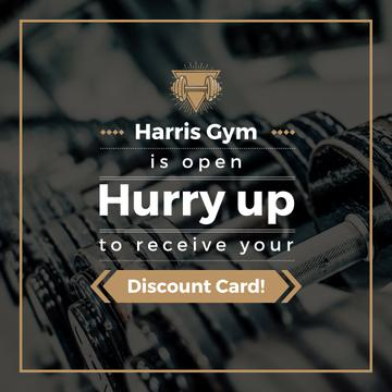 Gym Membership Offer with Dumbbells