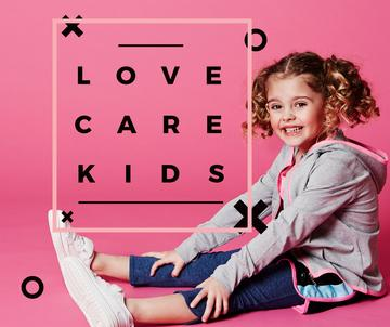 Child care concept with little Girl