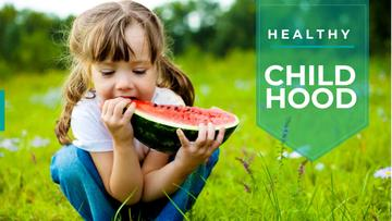Healthy childhood concept