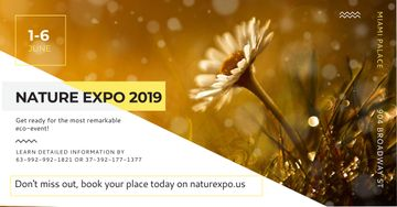 Nature Expo Annoucement with beautiful Flower