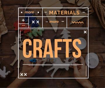 more materials more crafts banner for handmade workshop