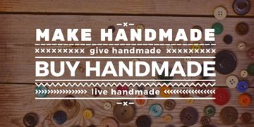 Handmade workshop with colorful buttons