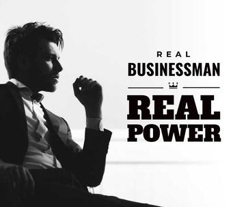 Businessman Wearing Suit in Black and White