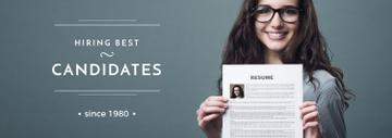 Hiring Candidates Girl Holding Her Resume
