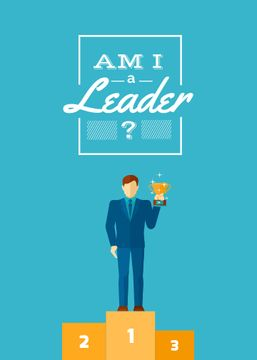 Business leadership concept Man with cup
