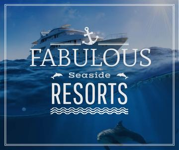 Seaside Resorts Promotion Ship in Sea