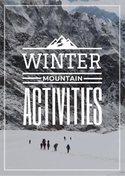 Winter Activities Inspiration with People in Snowy Mountains