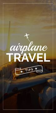 Airplane travel tips banner
