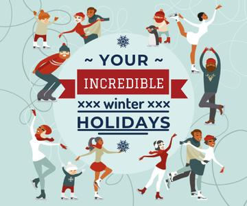 Incredible winter holidays poster