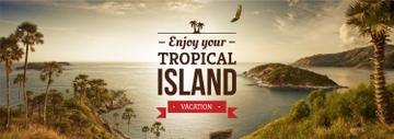 Vacation Tour Offer Tropical Island View
