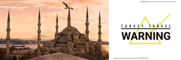 Turkey travel vacation poster