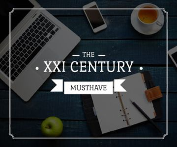 the 21st century must have poster with modern devices